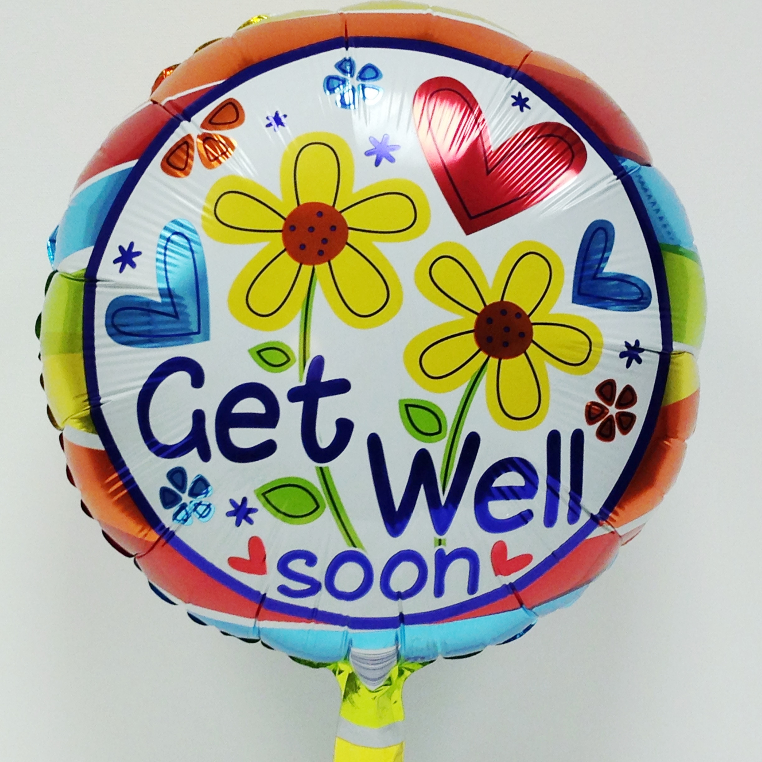 Get Well Soon Balloon with Flowers ...